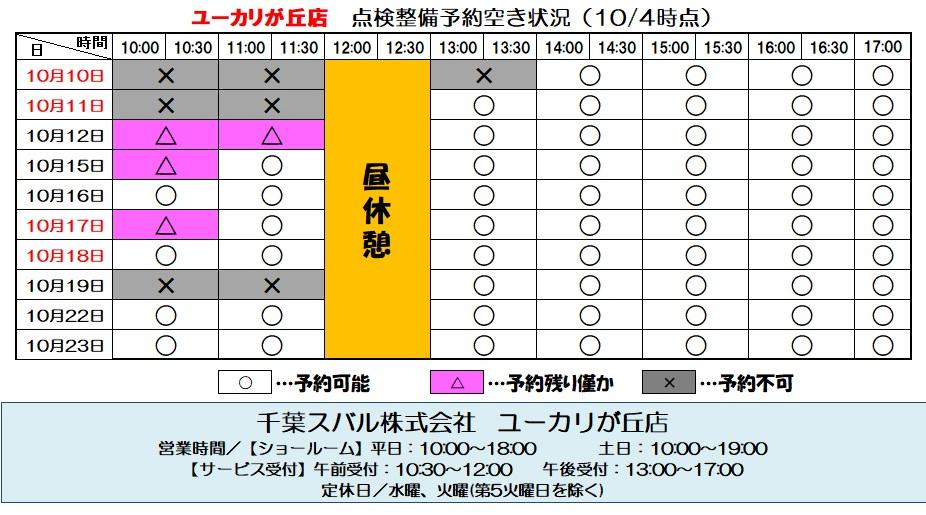 mysubaru予約情報.10.4