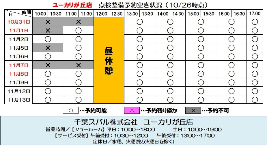 mysubaru予約情報.10.26